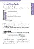 Sony NWZ-B143 - NWZ-B143 Consignes d'utilisation Tchèque - Page 2