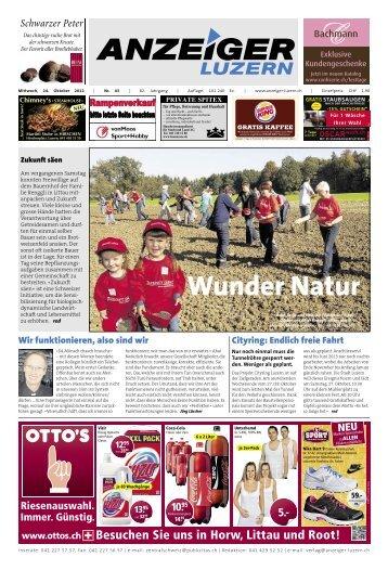 Anzeiger Luzern, Ausgabe 43, 24. Oktober 2012