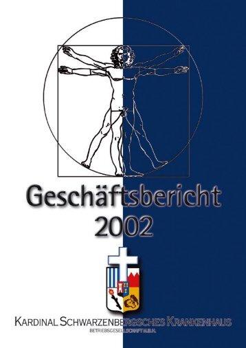 Geschäftsbericht 2002 - Kardinal Schwarzenberg'sches ...