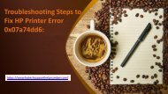 Troubleshooting Steps to Fix HP Printer Error Online