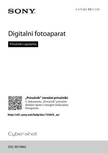 Sony DSC-RX1RM2 - DSC-RX1RM2 Mode d'emploi Croate