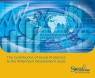 Contribution of Social Protection to the Millennium ... - Ecolabs