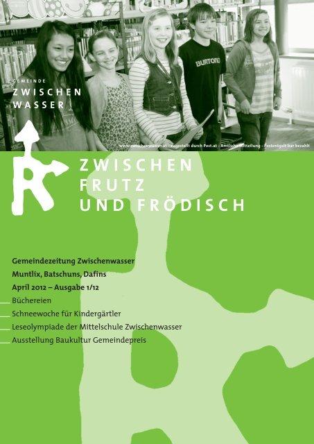 Gemeindezeitung April 2012 - Gemeinde Zwischenwasser