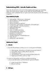 Liste aller Projekte und Ideen - Stadt Haiterbach