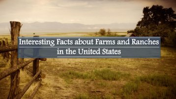 Interesting Facts about Farms and Ranches in the United States