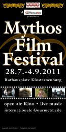 4.9.2011 Rathausplatz Klosterneuburg open air Kino • live music ...