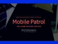 Mobile Patrols Security Services | SFHSS