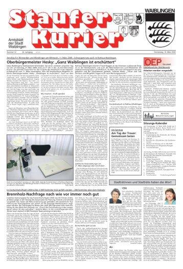 Ausgabe Nr. 12 (Do, 19. März 2009) - Stadt Waiblingen