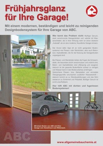 Frühjahrsglanz für Ihre Garage! - Allgemeine Bau Chemie