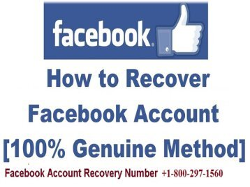 How to Recover Facebook Account +1-800-297-1560