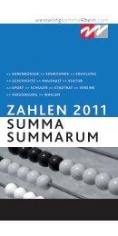 ZAHLEN 2011 SUMMA SUMMARUM - Stadt Wesseling