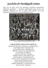 Geschichte der Musikkapelle Seeham