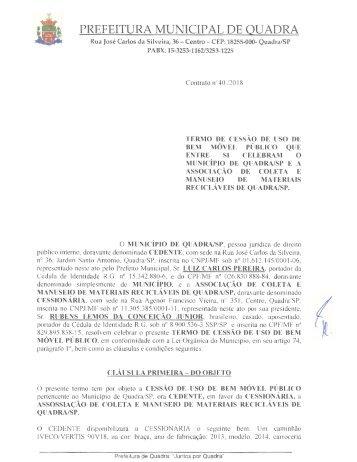 Contrato nº 40 2018