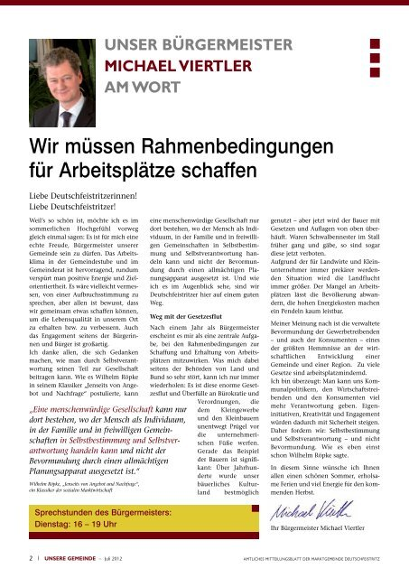 unsere gemeinde immer für sie da - Deutschfeistritz - istsuper.com