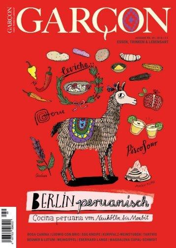 Magazin GARCON - Essen, Trinken, Lebensart Nr. 49