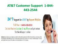 AT&T Customer Support  1-844-443 (25-04)-PDF