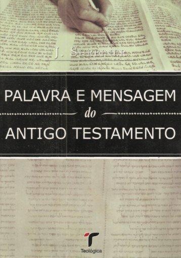 Palavra e Mensagem do Antigo Testamento - Josef Schreiner