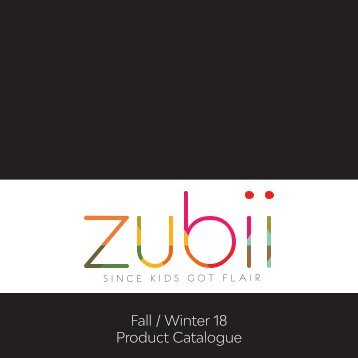 Zubii Catalogue F:W 18