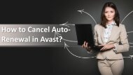 How to Cancel Auto-Renewal in Avast?