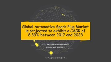 Global Automotive Spark Plug Market is projected to exhibit a CAGR of 8.39
