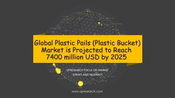 Global Plastic Pails (Plastic Bucket) Market is Projected to Reach 7400 million USD by 2025
