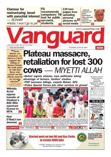 26062018 - Plateau massacre, retaliation for lost 300 cows — MIYETTI ALLAH