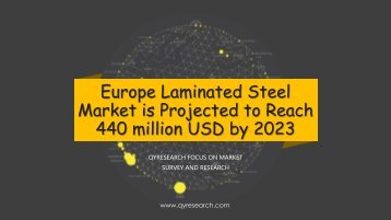 Europe Laminated Steel Market is Projected to Reach 440 million USD by 2023