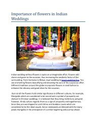 Importance of flowers in Indian Weddings