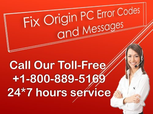 Fix Origin PC Error Codes and Messages  +1-800-311-6893 (Toll Free)