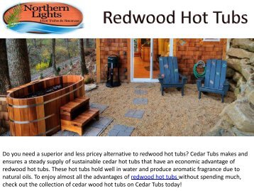 Quality Redwood Hot Tubs