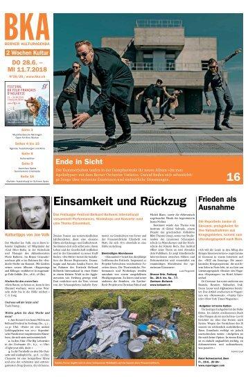 Berner Kulturagenda N° 25-26