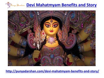 Devi Mahatmyam Benefits and Story