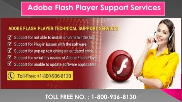 Adobe Flash Player Support Service, Dial 1-800-936-8130