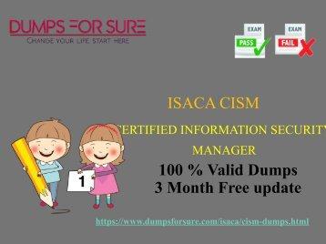 Isaca CISM dumps
