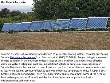 Best Flat Plate Solar Heater