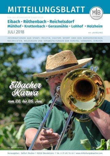 Nürnberg-Eibach/Reichelsdorf/Röthenbach - Juli 2018