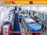 Receive Air Ambulance Service in Mumbai at an Economical-Cost by Sky Air Ambulance