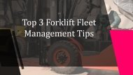 Top 3 Forklift Fleet Management Tips - Hi-Lift Forklift Services