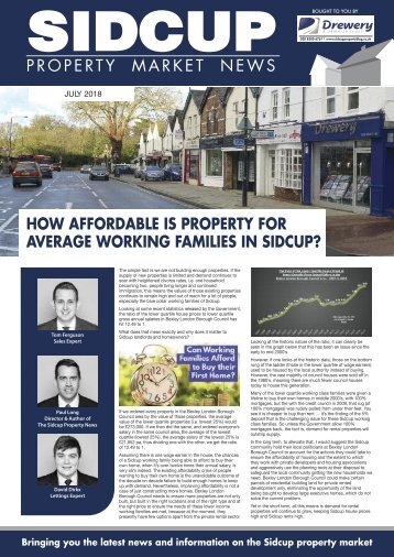 SIDCUP PROPERTY MAGAZINE - JULY 2018