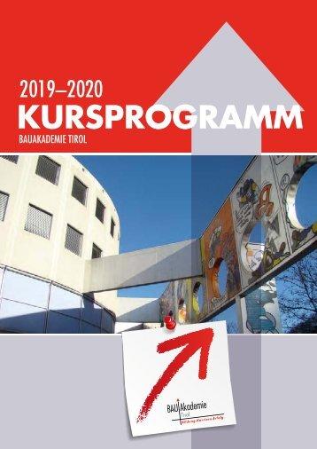 Bauakademie Tirol Kursprogramm 2018-19