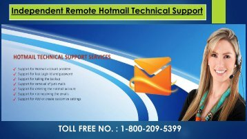 Hotmail Technical Support Service, Dial 1-800-209-5399