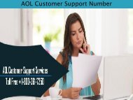 AOL Customer Support Number 1-800-361-7250