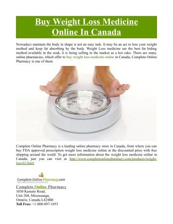 Buy Weight Loss Medicine Online In Canada