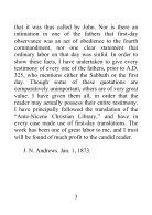 The Complete Testimony of the Fathers of the First Three Centuries Concerning the Sabbath and First Day - J. N. Andrews - Page 3