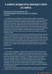 Fashion Marketing Dissertation Example
