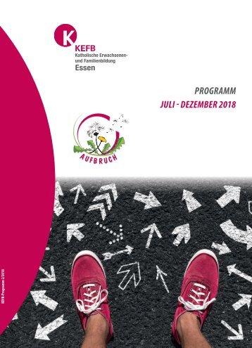 KEFB Essen Herbstprogramm 2018