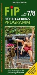 Fichtelgebirgs-Programm - Juli/August 2018
