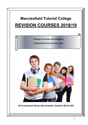 revision courses brochure 2018 19