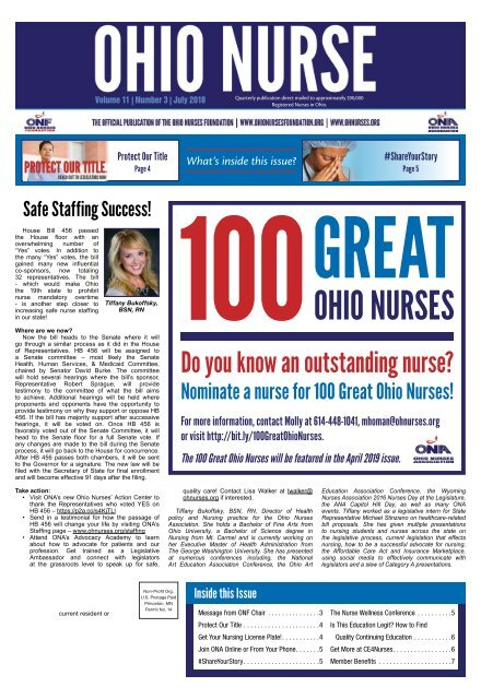 Ohio Nurse - July 2018