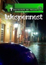 Wespennest Nr.4 - Gewerkschaft der Polizei - Kreisgruppe Wesel